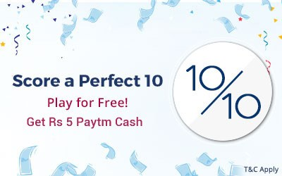 [LOOT] Get Free 5 Rs. Paytm Cash in 1 Minute (Power Play Quiz Answers)