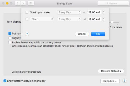 How to Shut Down Your Mac Automatically at a Specified Time 2018