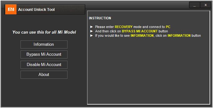 Mi-Account-Unlock-Tool