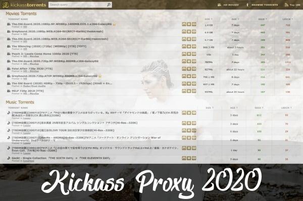 Kickass Proxy 2020 (KAT Proxy 2020)