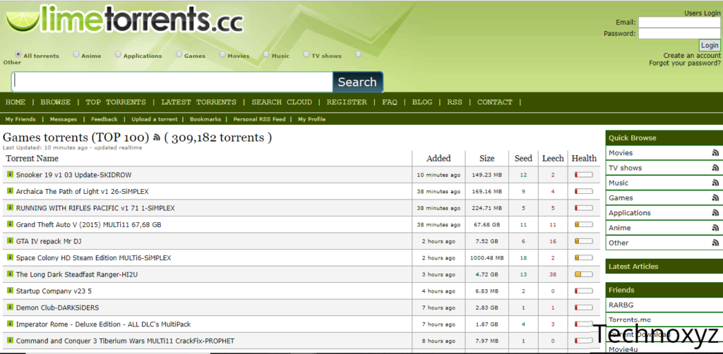 Official* LimeTorrents Proxy/Mirror Sites To Unblock LimeTorrent