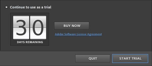 Adobe trial