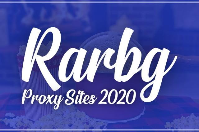 Rarbg Proxy Sites List (2020) Unblock